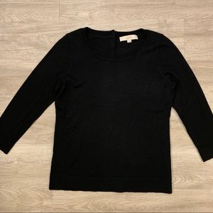 LOFT Black 3/4 Sleeve Shirt